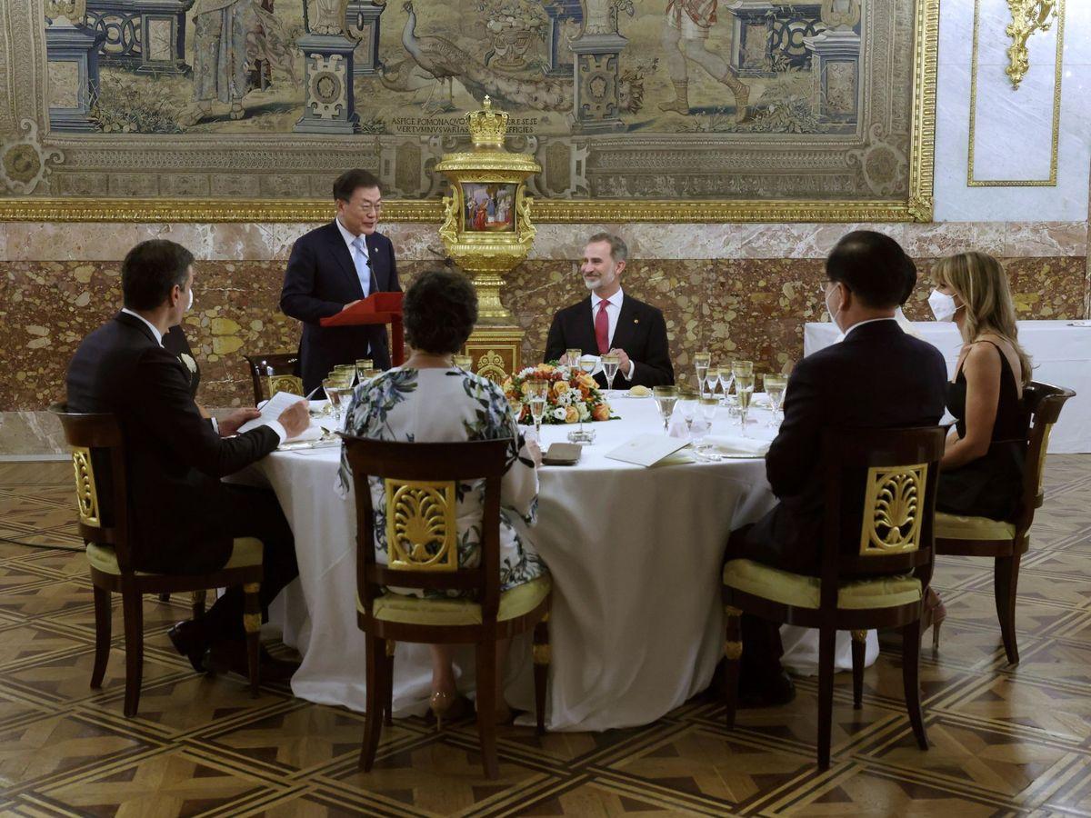 Foto: La cena en honor al presidente de Corea. (EFE)