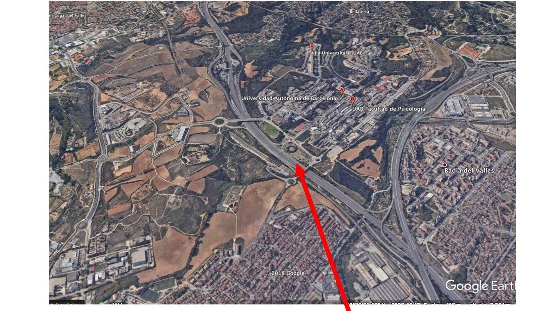 Un plano señala el lugar de la acción del vídeo de los CDR.