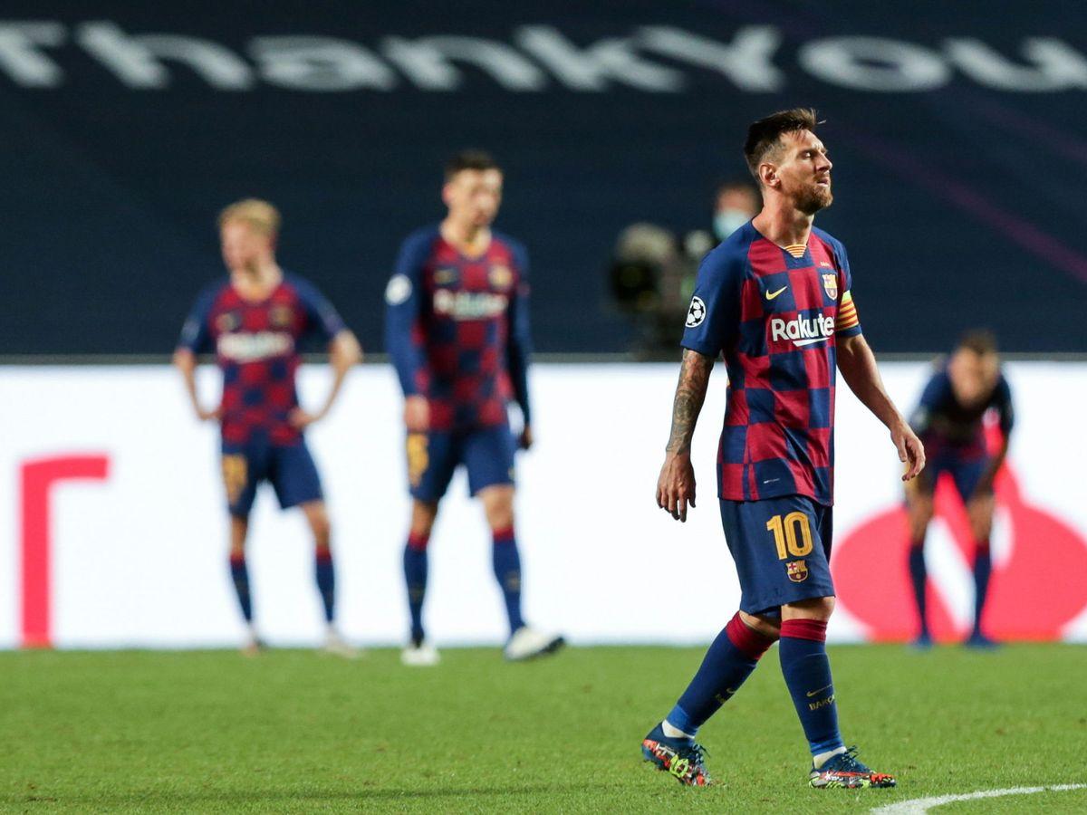 Foto: Leo Messi, a la conclusión del Bayern-Barcelona. (Efe)