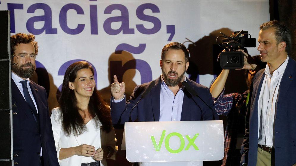 Foto: Espinosa de los Monteros, Monasterio, Abascal y Ortega Smith. (EFE)