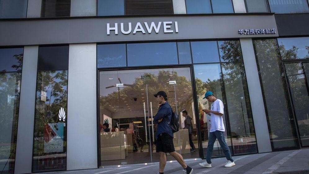 Foto: Tienda de Huawei en Pekín. (EFE)