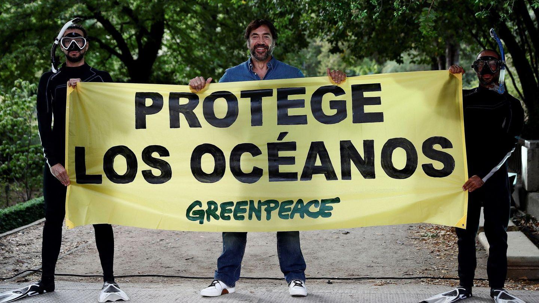 Bardem, en un acto de Greenpeace. (EFE)