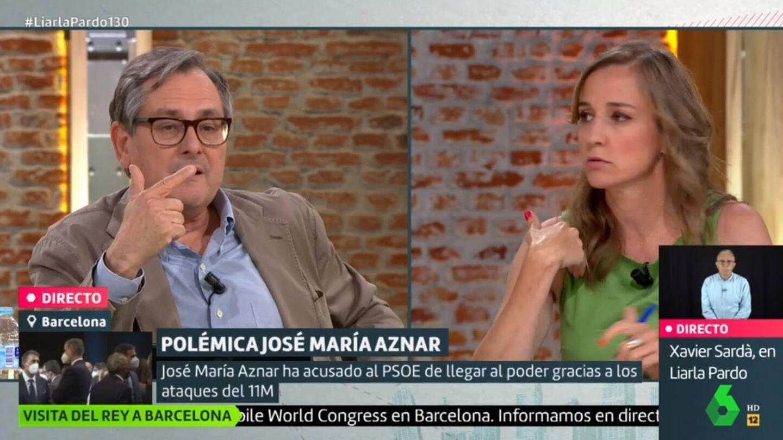 Marhuenda y Sánchez discutiendo. (La Sexta).