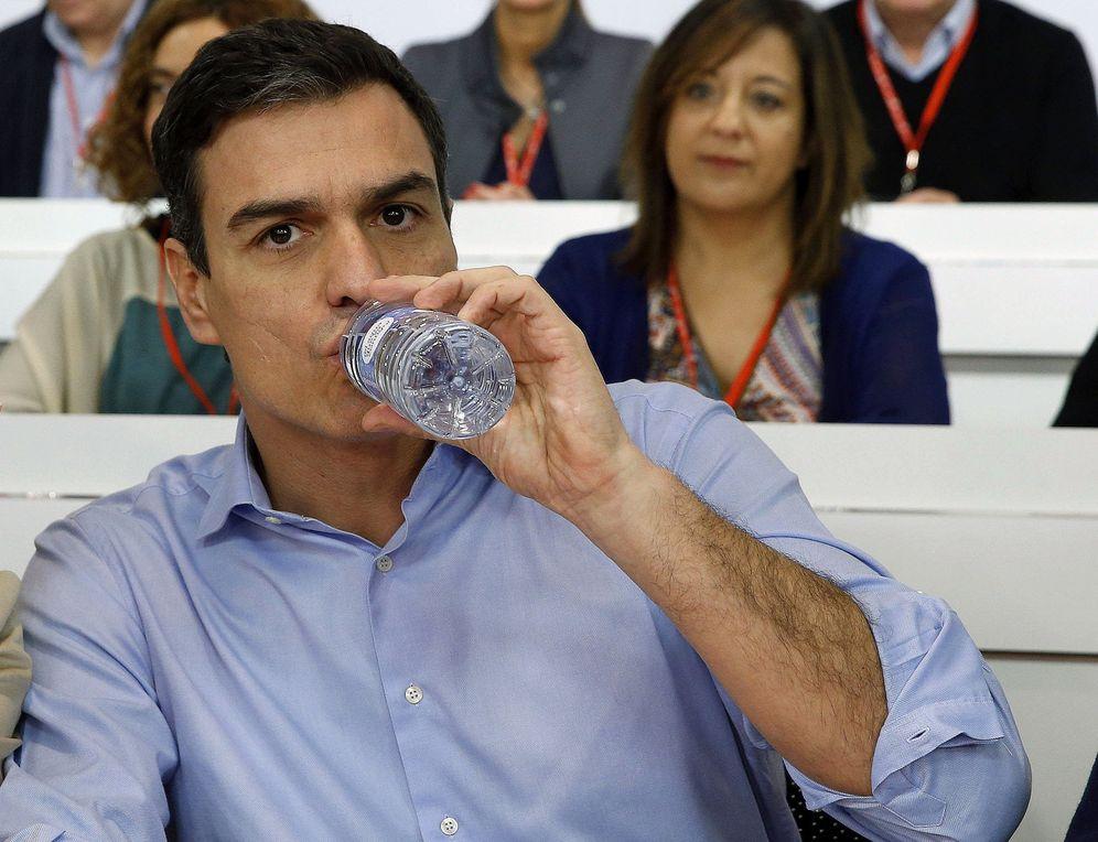 Foto: Pedro Sánchez, durante la reunión del comité federal extraordinario de este 29 de febrero. (EFE)
