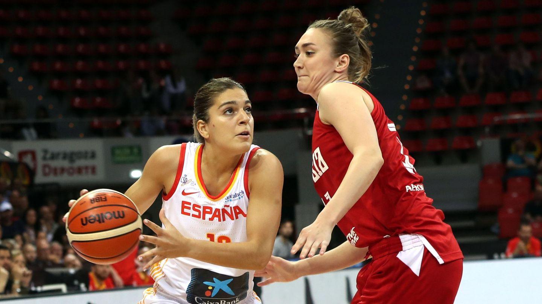 Marta Xargay, en un partido con la selección española. (Efe)