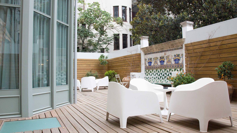 La terraza de Casa Mathilda.