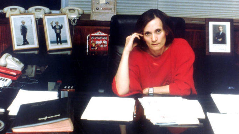 Pilar Miró en su despacho. (TVE)