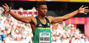 Post de Van Niekerk, el atleta del momento, tiene un reto 'obligad0' por una bisabuela