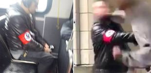 Post de Un nazi va en un autobús de Seattle, su foto circula por Twitter y acaba KO