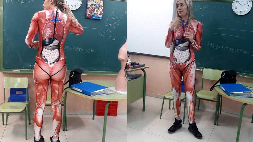 Una profesora de Valladolid que 'se deja la piel' para enseñar el cuerpo humano