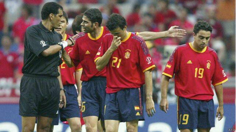 Xavi Hernández durante la cita mundialista. (Imagen de archivo)
