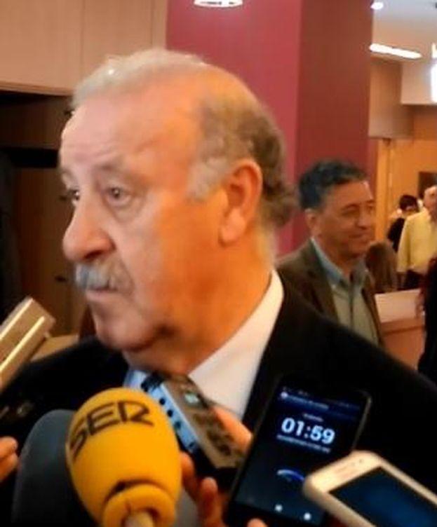 Foto: El seleccionador, Vicente del Bosque (FOTO: Daniel García).