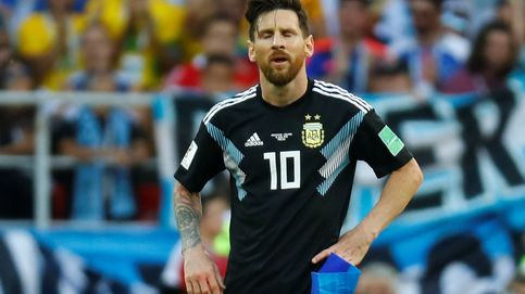 El melón de Messi en el penalti que le convierte en un bulto extraño con Argentina