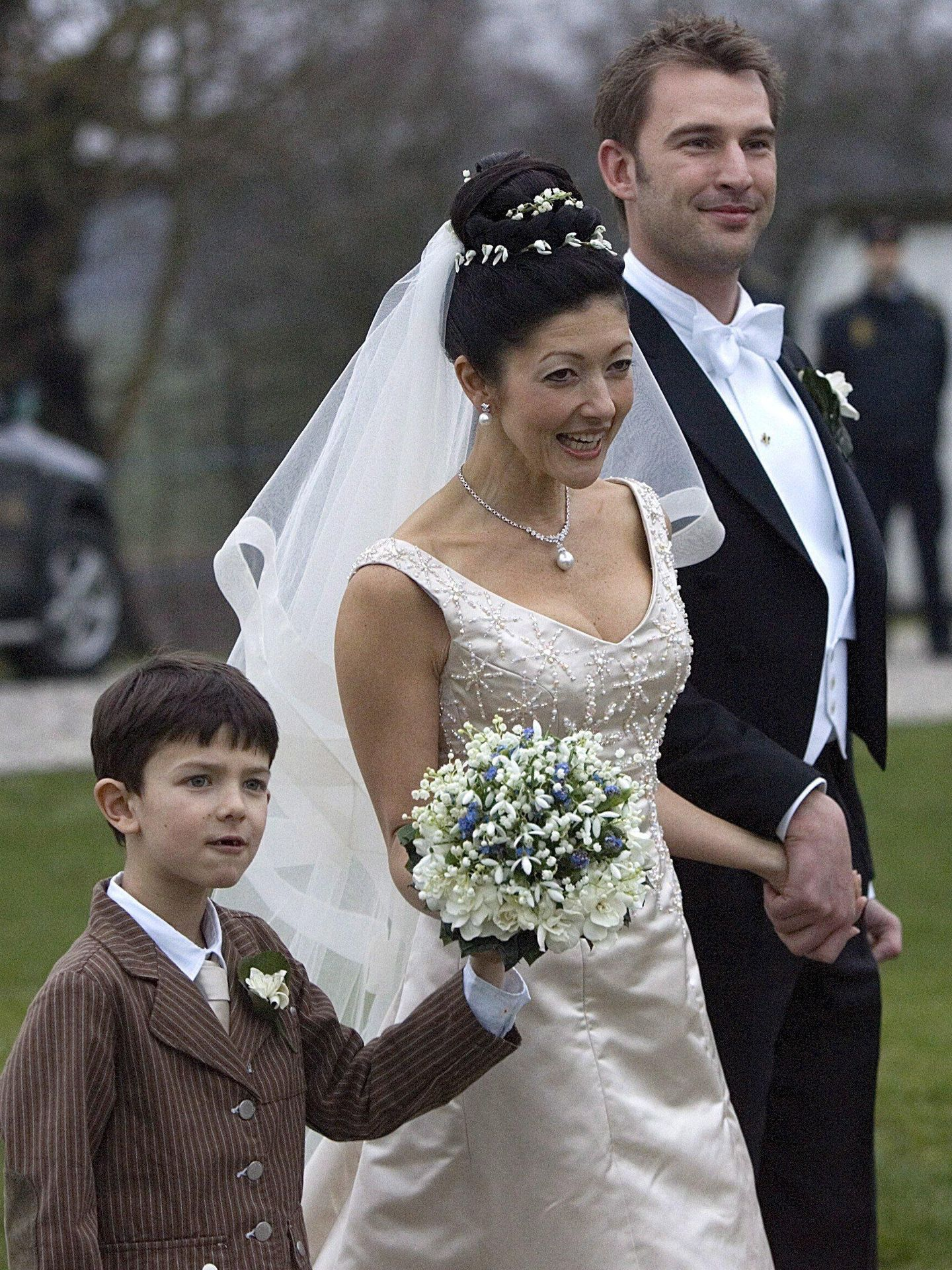 Alexandra, en su boda con el fotógrafo Martin Jørgensen. (Cordon Press)