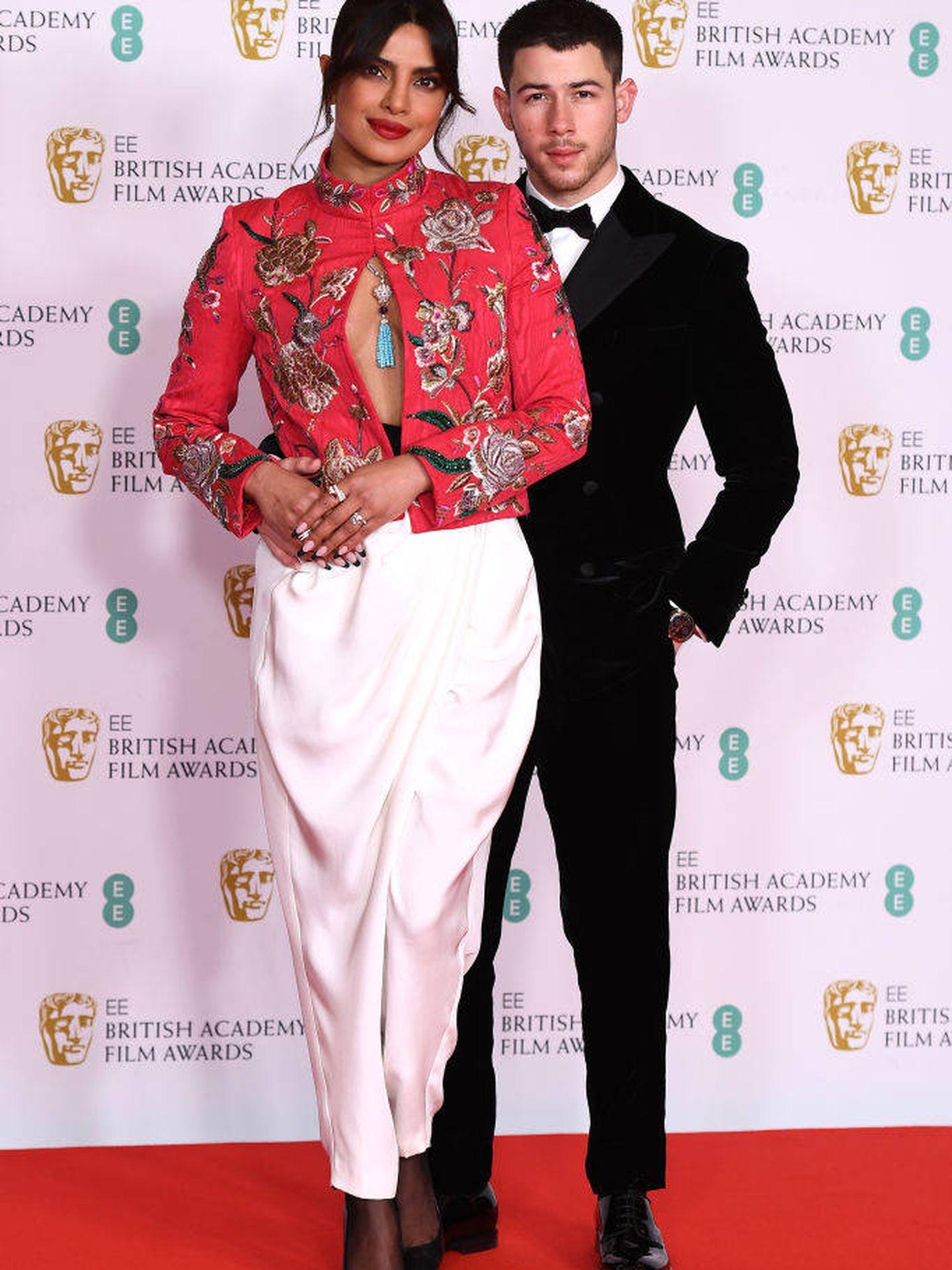 Priyanka Chopra y Nick Jonas. (Getty)