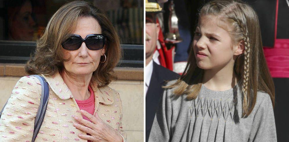 Foto: Paloma Rocasolano y la infanta Sofía