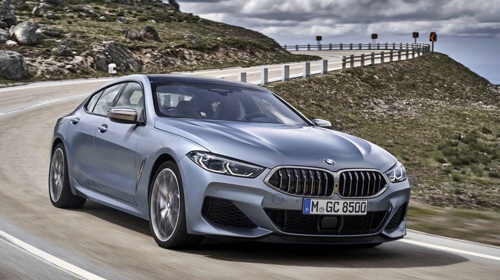 Foto: El BMW Serie 8 Gran Coupé tiene el frontal de la versión Coupé y la trasera de un coche de cuatro puertas.
