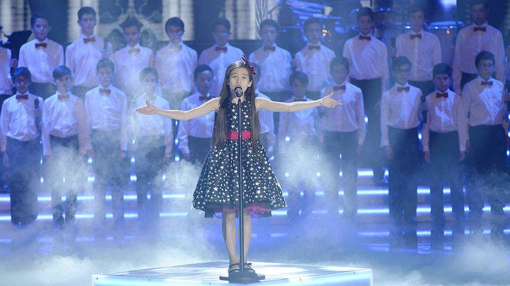 Foto: Melani García en 'La voz kids 4'. (Mediaset España)
