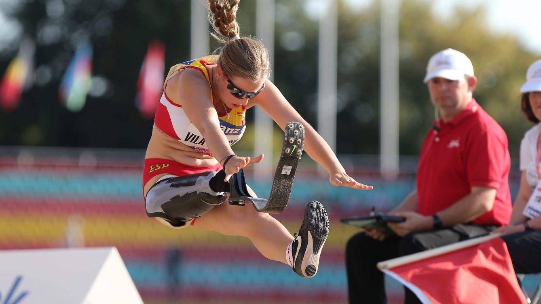 Foto: Desirée Vila en el salto de longitud de Berlín. (Foto: CPE)