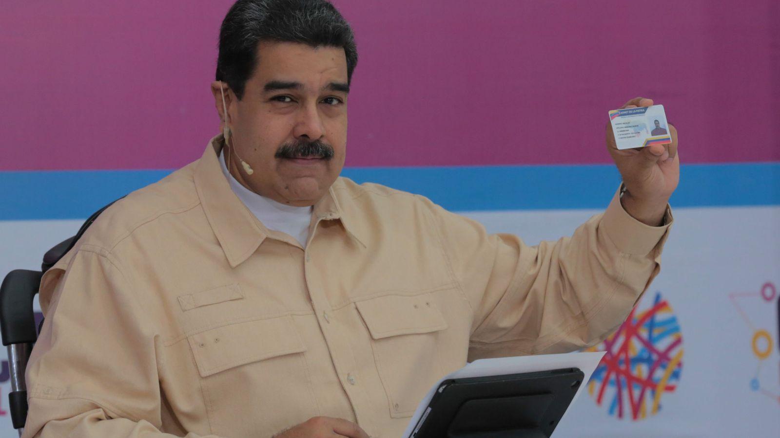 Foto: Maduro anuncia la creación del petro. (EFE)