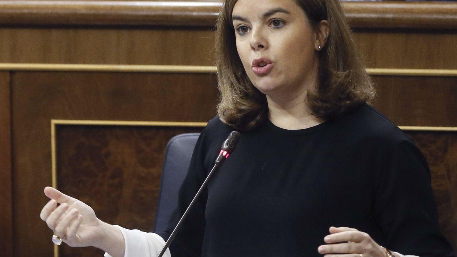 Foto: La viceprepsidenta del Gobierno, Soraya Saénz de Santamaria. (EFE)