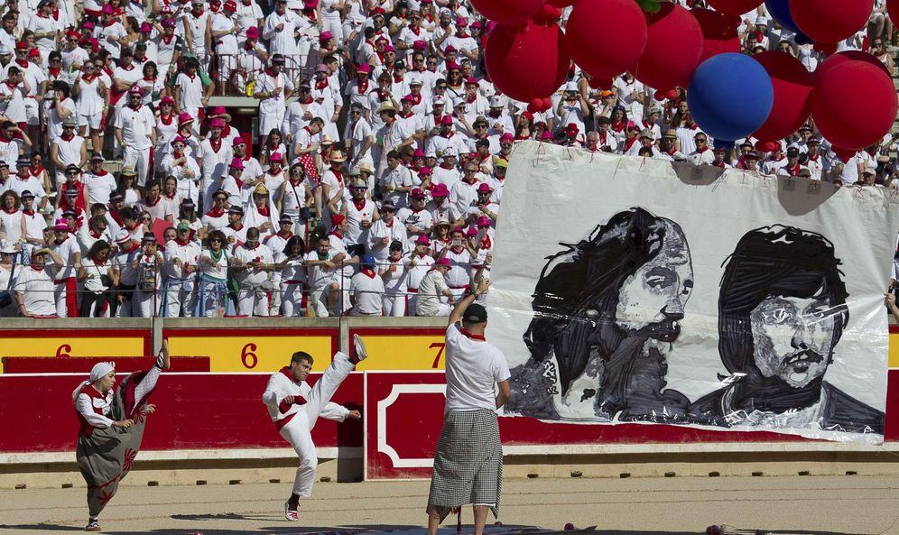 Foto: Celebración del 40 aniversario de los sanfermines del 78. (EFE)