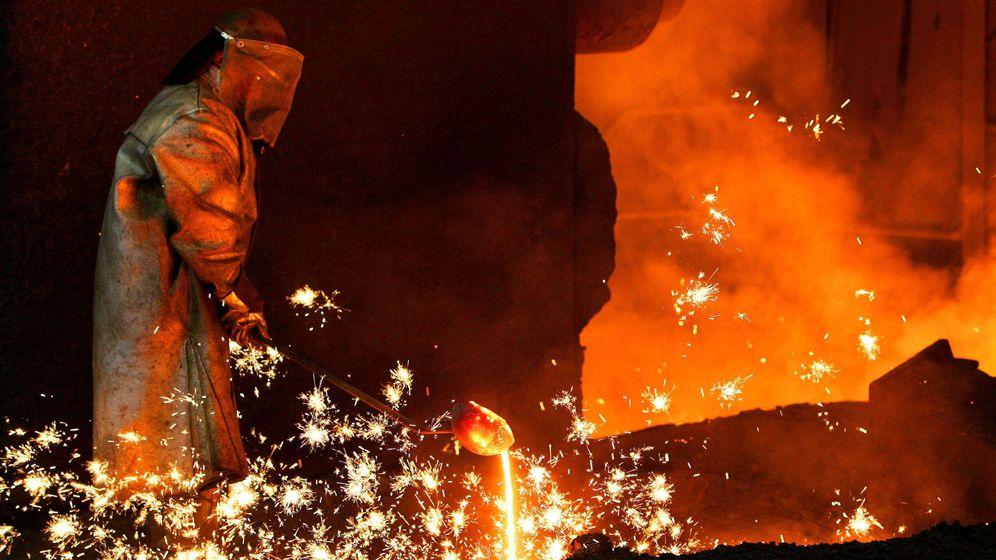 Foto: Trabajador de Arcelor