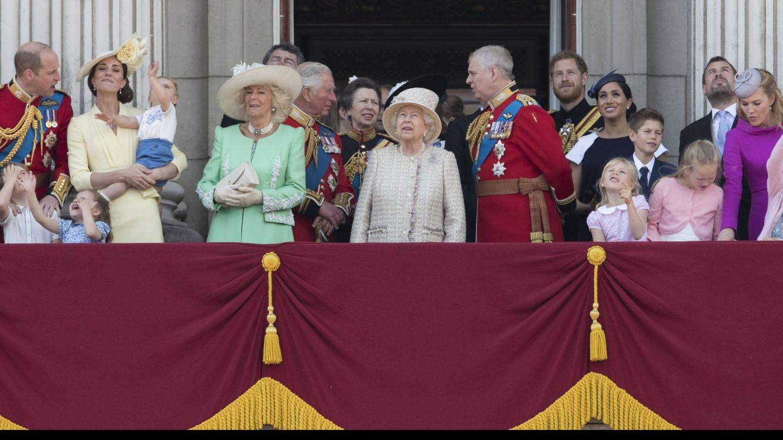 La familia Real británica en el 'Trooping the Colour 2019'. (Cordon Press)