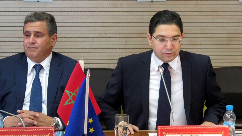 En abril de 2018, con el ministro de Asuntos Exteriores de Marruecos, Nasser Bourita. (EFE)