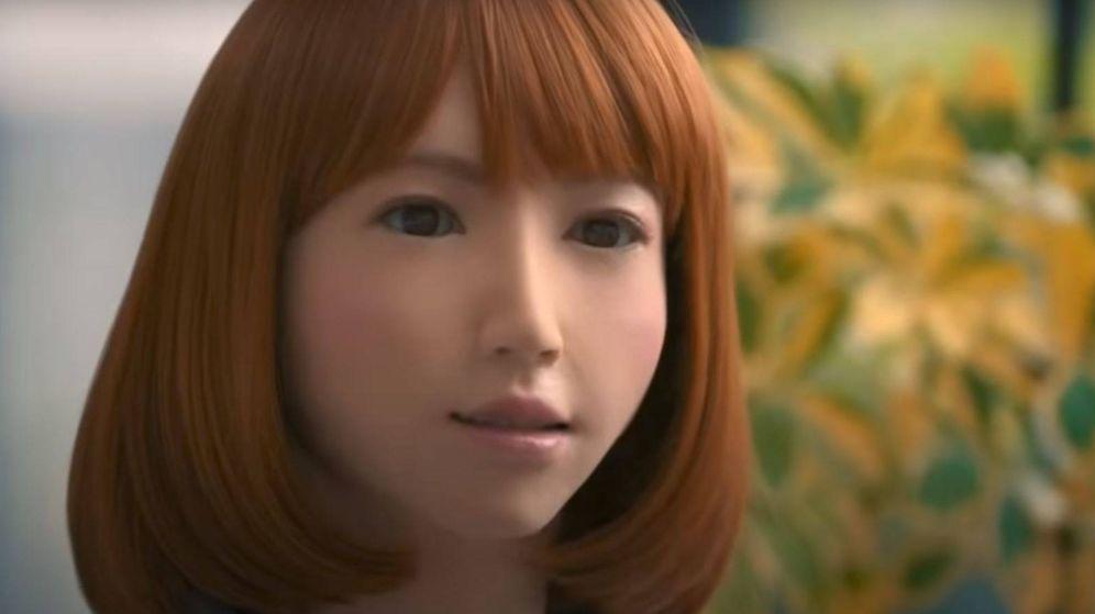 Foto: Así es el robot Erica. (YouTube)