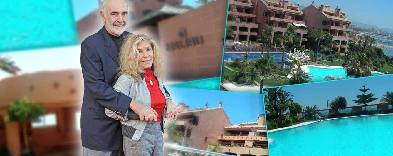Foto: Sean Connery y su esposa en un fotomontaje de Vanitatis sobre imágenes de su residencia marbellí