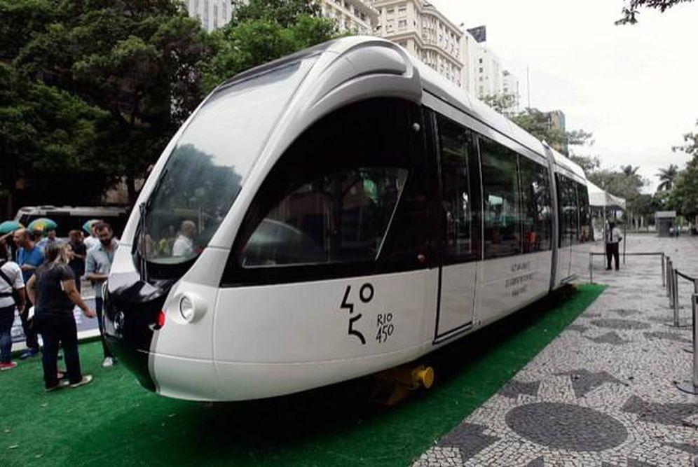 Foto: El nuevo VLT o tren ligero de Río de Janeiro