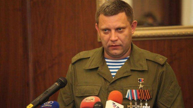 Alexander Zakharchenko, líder de la autoproclamada República Popular de Donetsk, durante la proclamación de Malorossiya