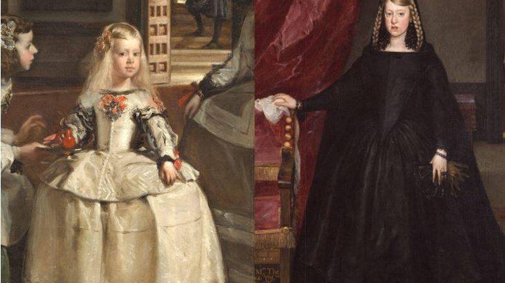 Foto: La Infanta Margarita en 'Las Meninas' y en 'Doña Margarita de Austria', diez años después (Museo del Prado)