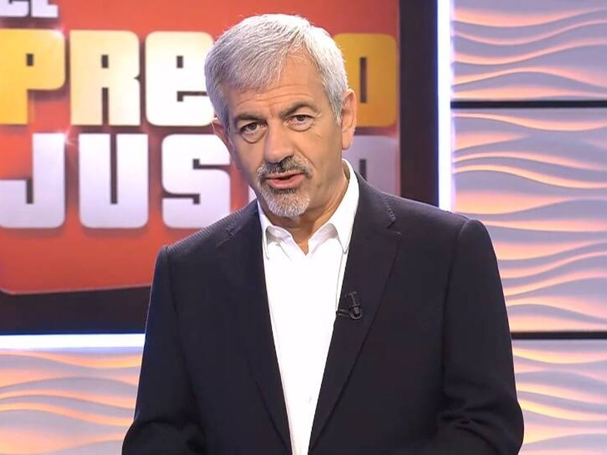 Foto: Carlos Sobera, presentador de 'El precio justo'. (Mediaset España)