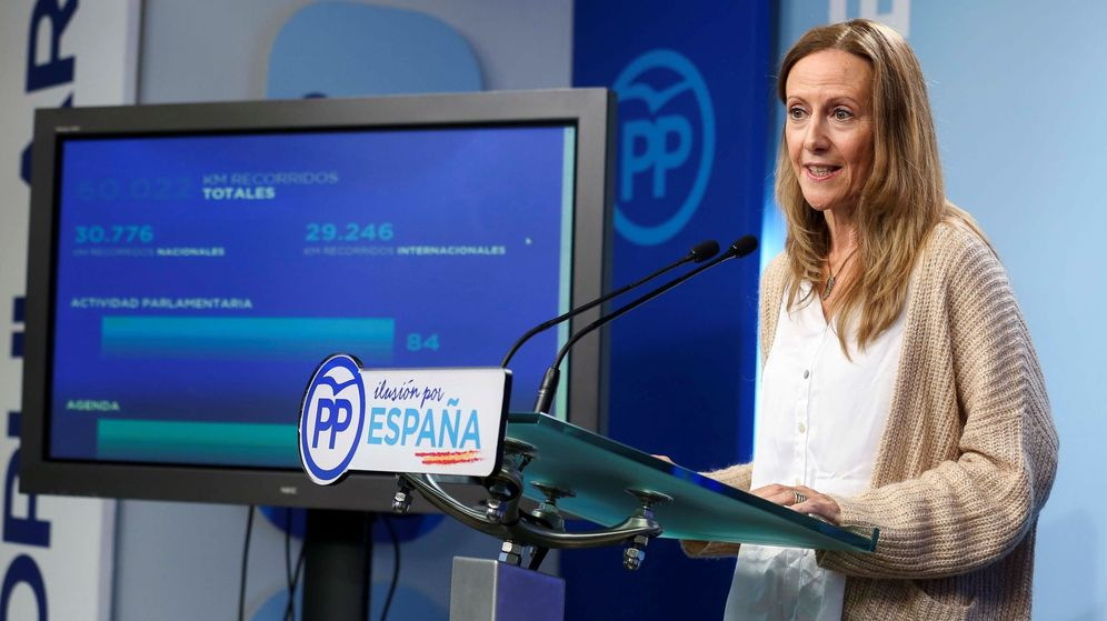 Foto: La vicesecretaria de Comunicación del PP, Marta González. (EFE)