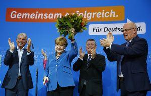 Merkel gana las elecciones alemanas con un 42,5 %, según los sondeos
