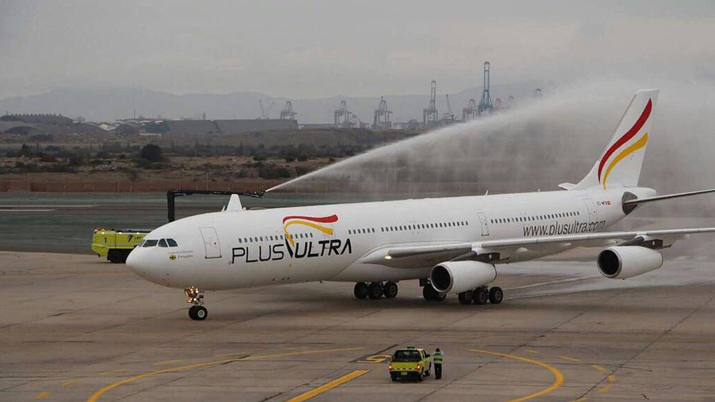 Fotografía cedida por la aerolínea española Plus Ultra. (EFE)