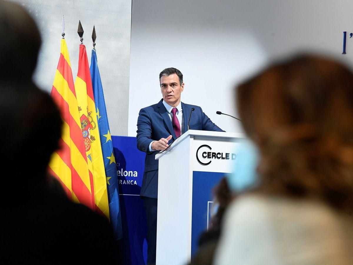 Foto: Pedro Sánchez en el 'Cercle de Economía'. (EFE)
