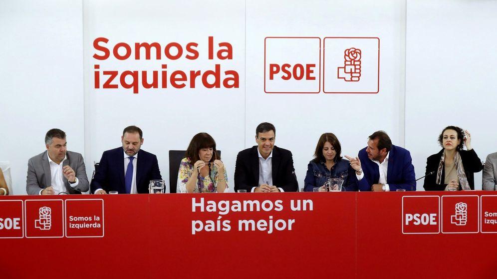 Foto: El líder del PSOE, Pedro Sánchez, en Ferraz. (EFE)