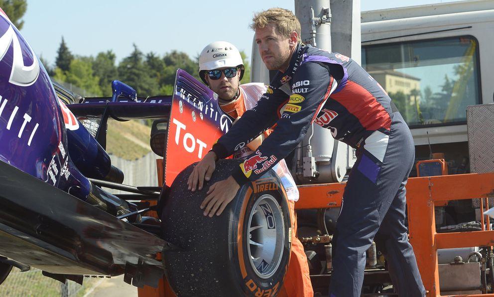 Sebastian Vettel, en los entrenamientos libres del GP de España. (AP)
