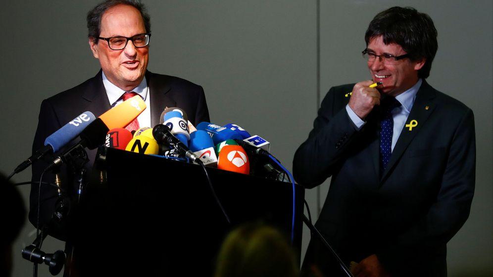 Foto: Quim Torra y Carles Puigdemont, en Berlín. (Reuters)
