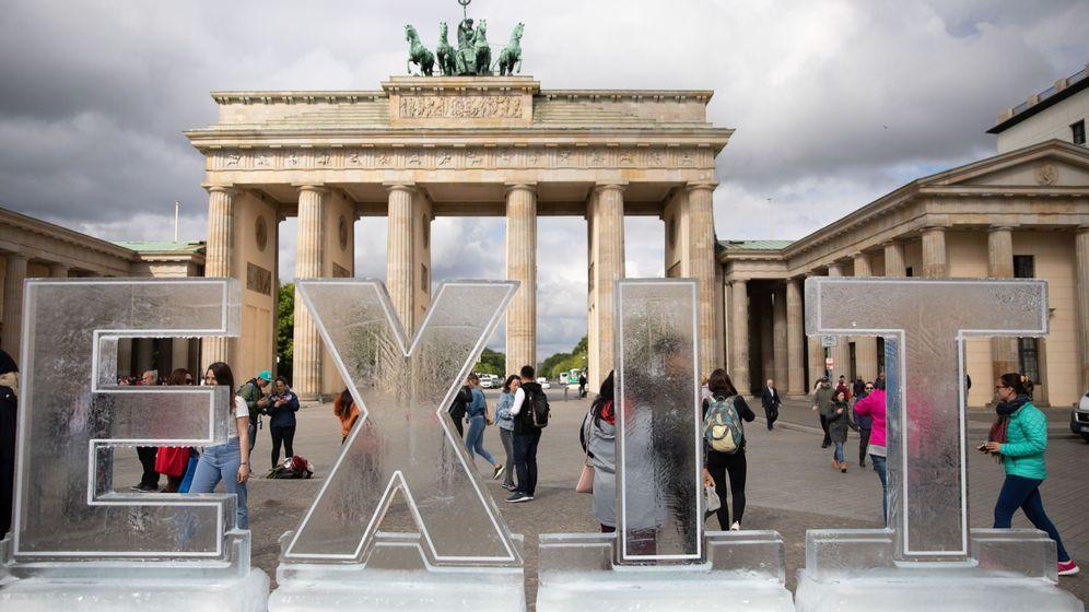 Foto: Protestas de Greenpeace en Berlín contra el cambio climático. (EFE)