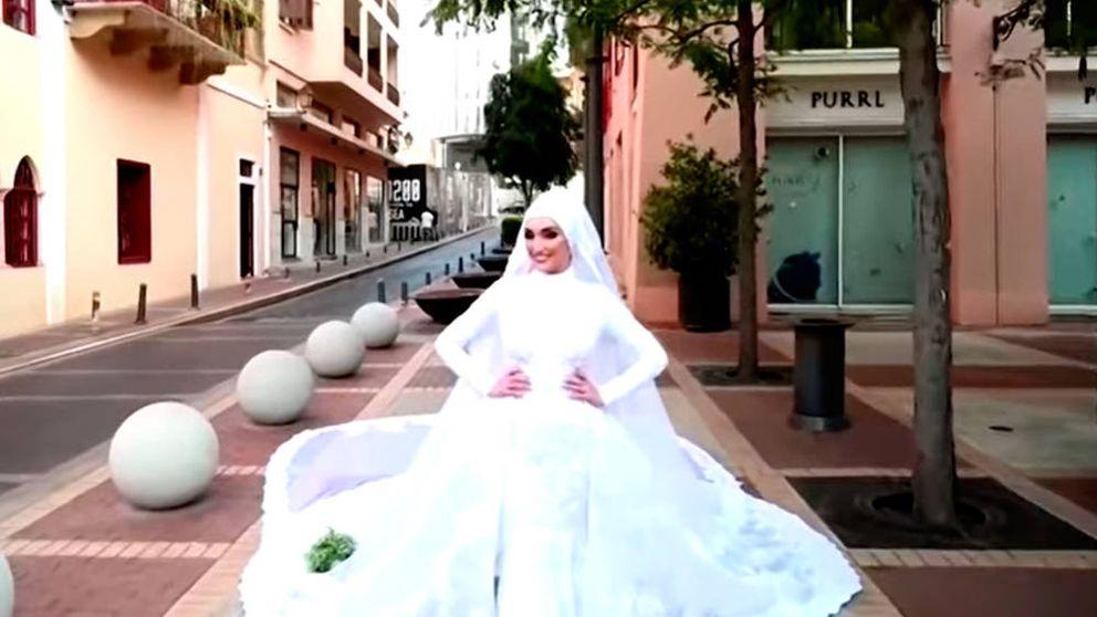 El vídeo de esta novia casándose graba la impresionante explosión en Beirut