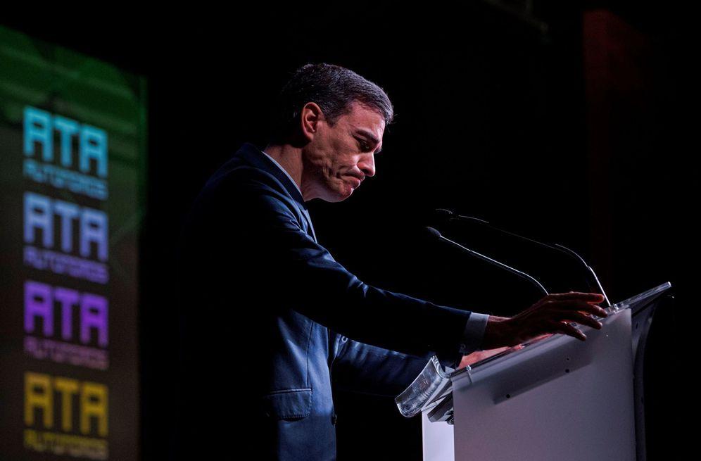 Foto: Pedro Sánchez, en la clausura del congreso de la Asociación de Trabajadores Autónomos (ATA), este 9 de marzo en Madrid. (EFE)