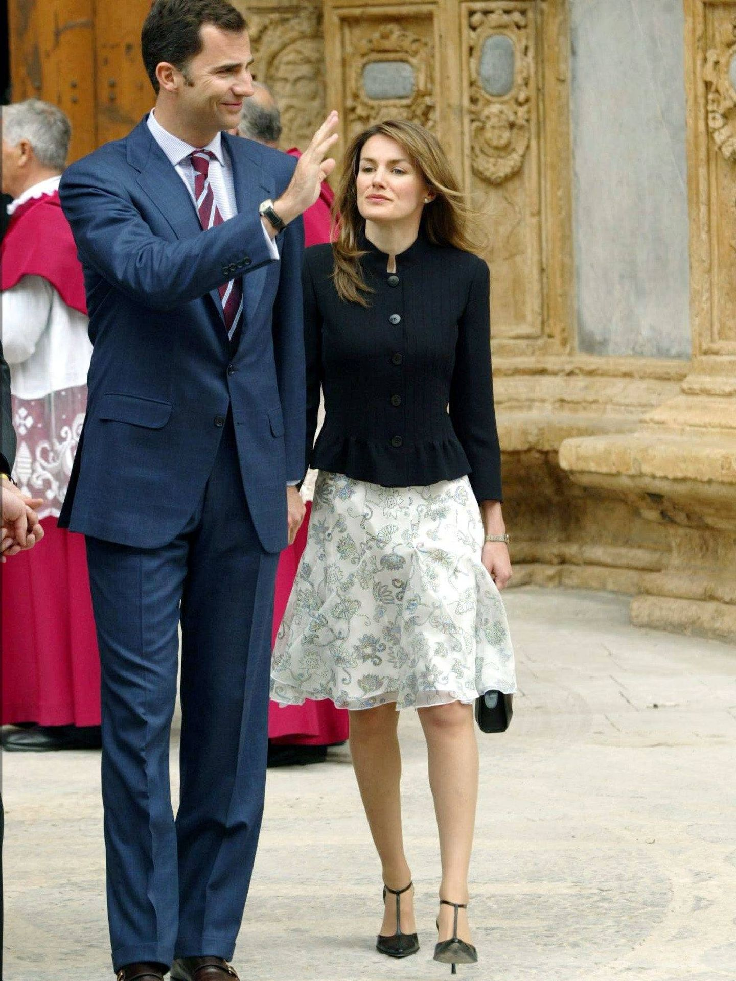 Felipe y Letizia, en Mallorca en 2004. (Gtres)