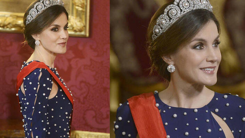 Reina Letizia, vestida de Ana Locking. (Cordon Press)