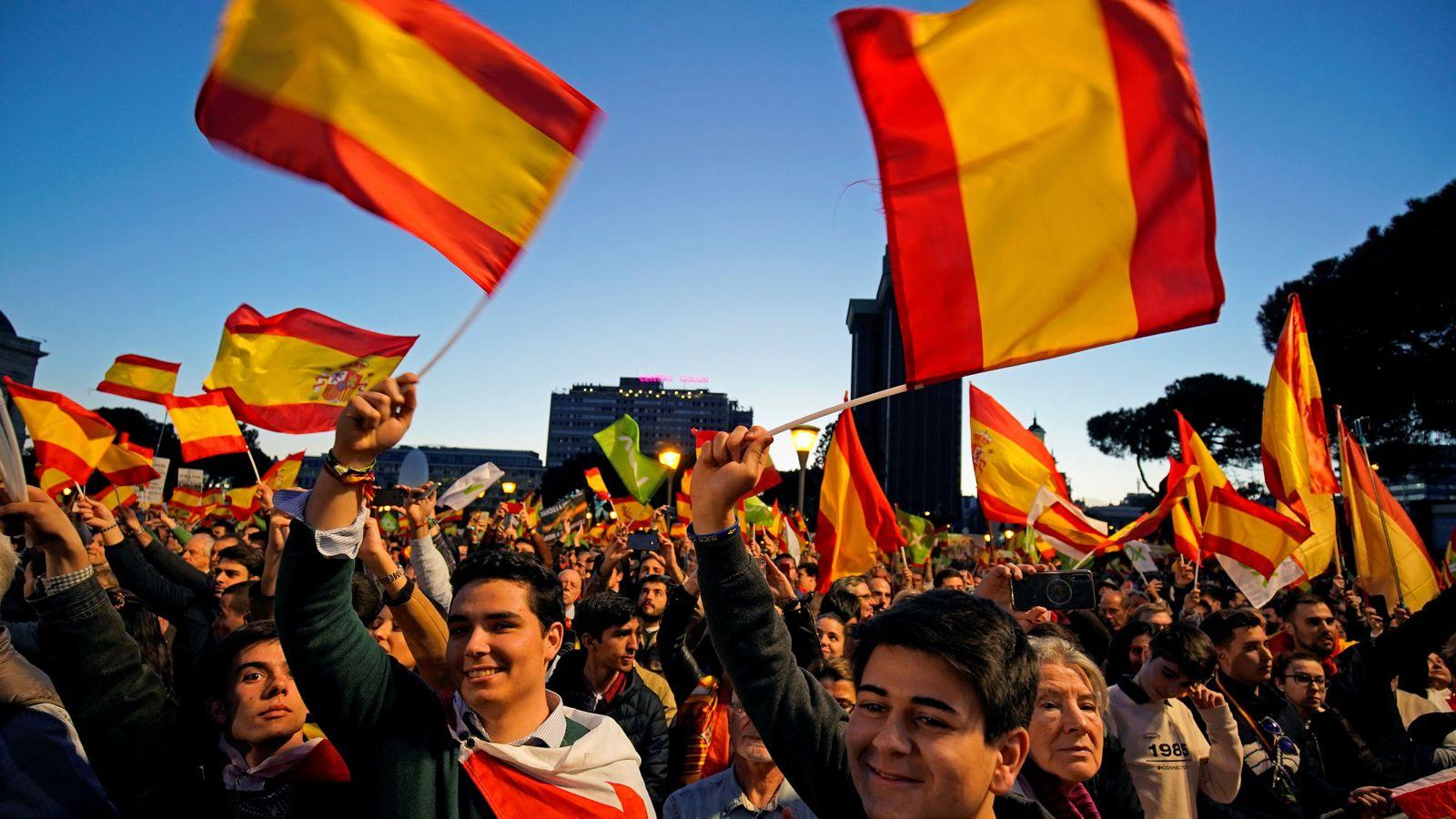 Foto: Cierre de campaña de Vox. (Reuters)
