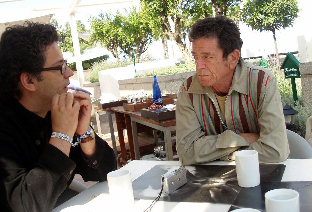 Foto: Ignacio Julià con Lou Reed (Master Ren Guan Yi)