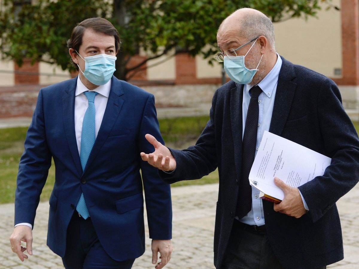 Foto: Alfonso Fernández Mañueco (PP) y Francisco Igea (Cs). (EFE)